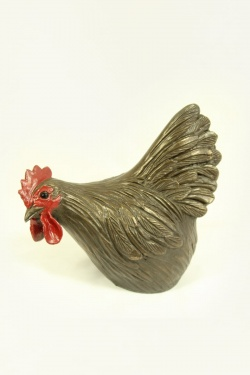 bronze resin Hen Pecking