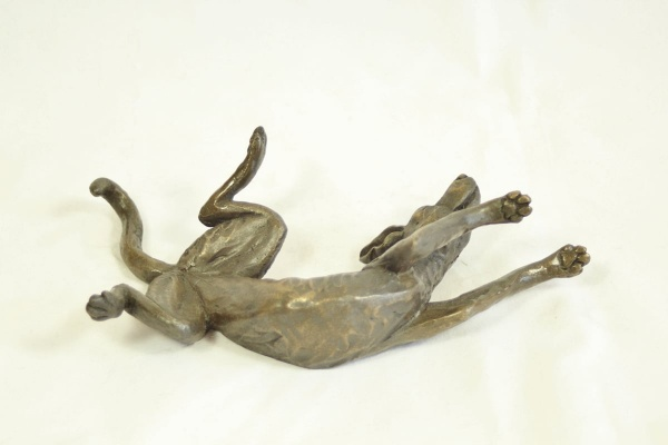 bronze resin Stretching rolling dog
