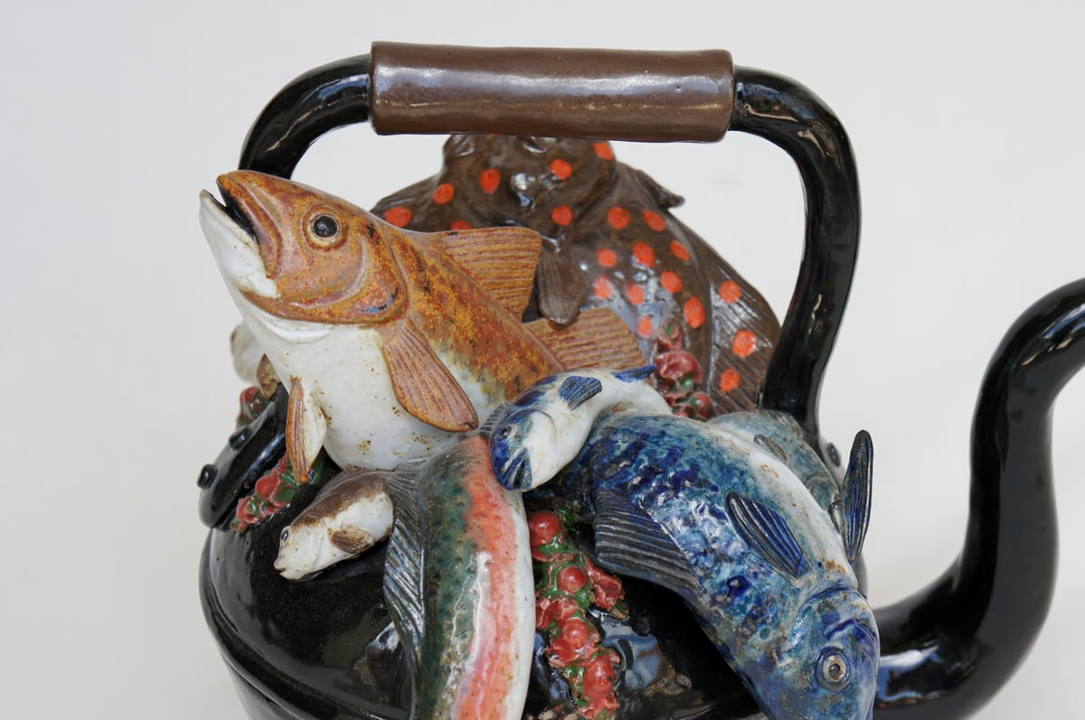 A Kettle of Fish - ceramic clay sculpture