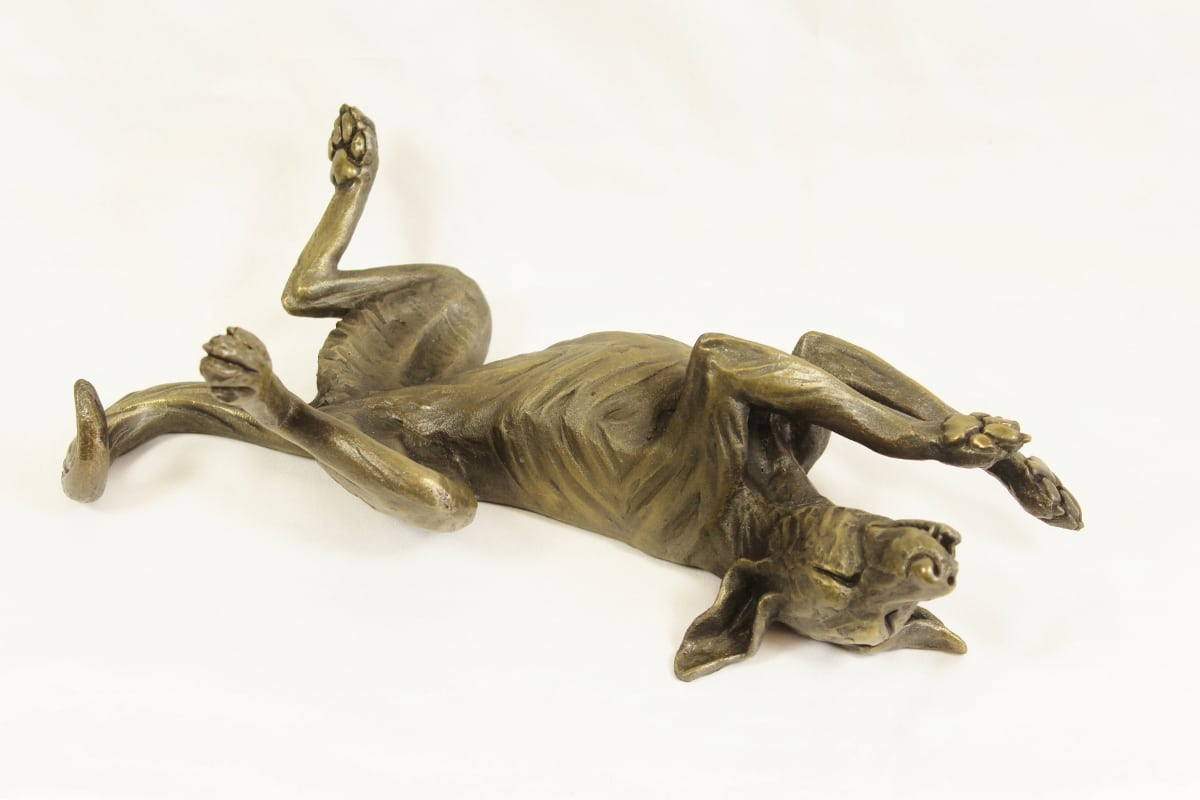 bronze resin Rolling Dog, medium