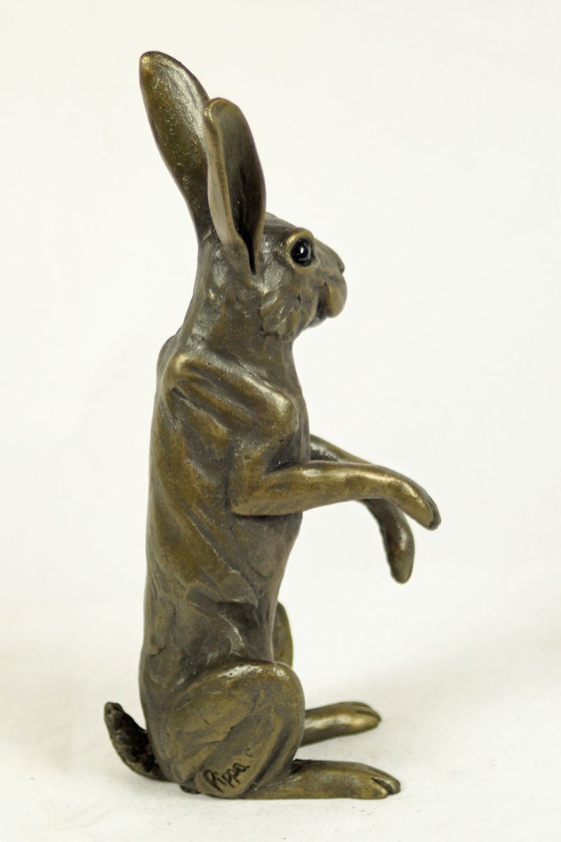 bronze resin Hare On the Lookout- HARE-034