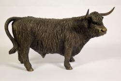 bronze resin Highland Bull sculpture