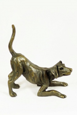 bronze resin Playful Dog - SKU DOG023