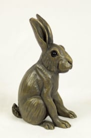 bronze resin Leveret sitting up