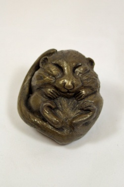 bronze resin Dormouse asleep