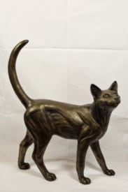 bronze resin Happy Cat