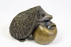bronze resin Curled Hedgehog, large
