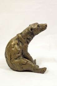 bronze resin Sitting Polar Bear