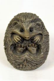 bronze resin Curled Hedgehog, small