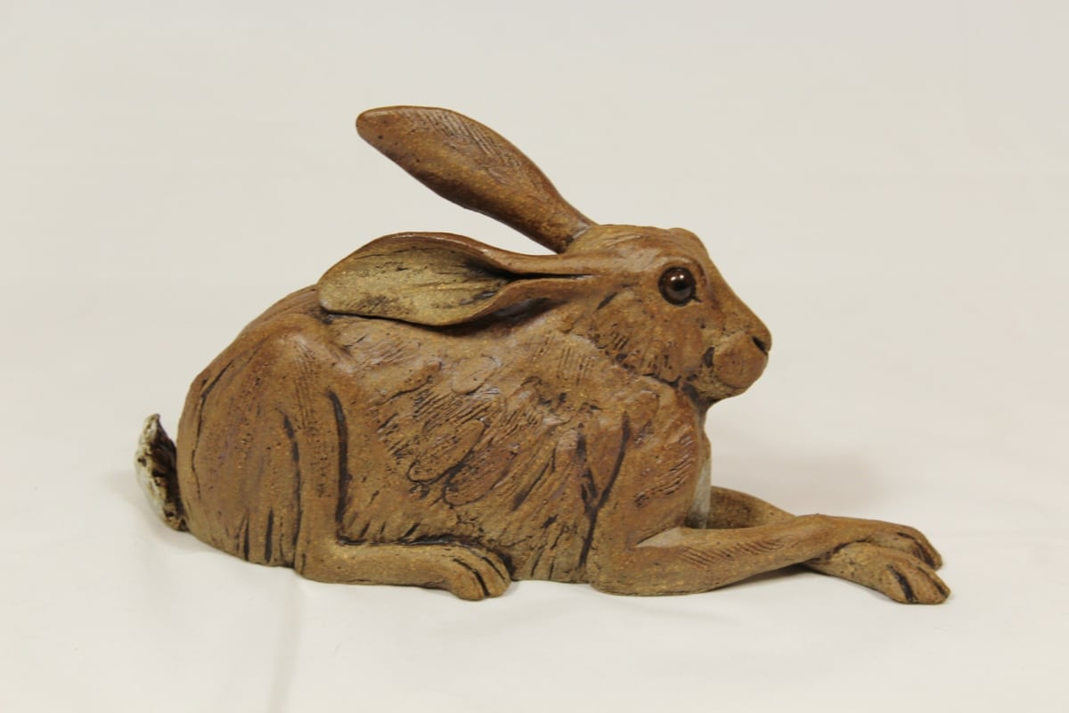 Ceramic Brown crouching Hare