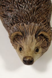 Hedgehog - ceramic clay sculpture