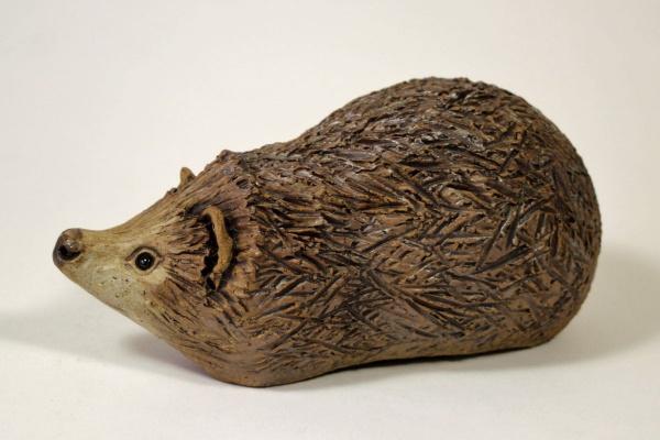 Hedgehog - ceramic clay sculpture