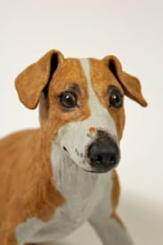 Lucy. A Plummer Terrier - ceramic clay sculpture