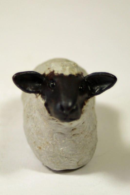 Tiny Sheep - ceramic clay sculpture